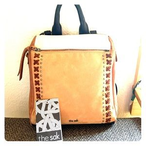 The Sak crossbody backpack.